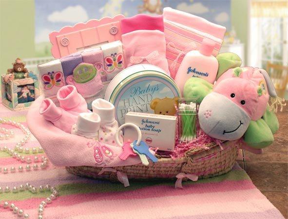 Подарок новорожденной из коробки